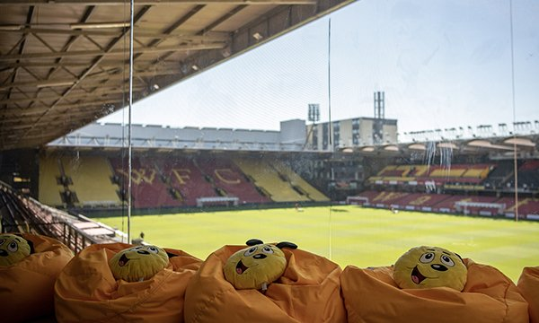 Picture shows the view from inside the sensory room at Watford FC for people with learning disabilities and autism