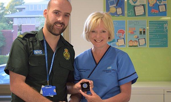 Craig Hayden award-winning advanced nurse practitioner with chief nursing officer Ruth May