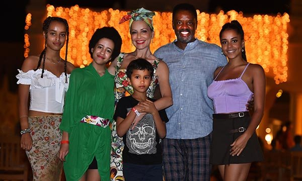 Picture shows TV presenter Carrie Grant with her family (L-R): Talia, Imogen, Carrie, Nathan, David, Olive. She wants better autism training and awareness, and says nurses can help through 'collaboration, community and curiosity'