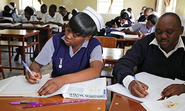 Trainee nurses in Zambia