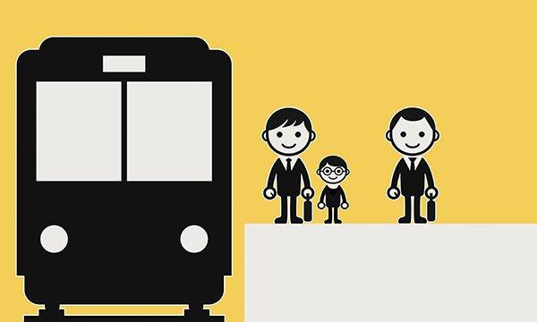 Two salesmen on a train