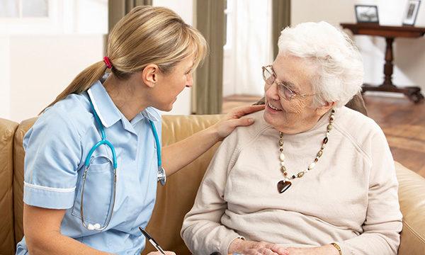 community nurse with a patient
